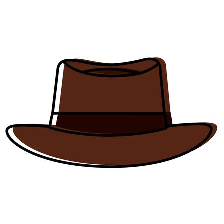 Classic men hat fashion illustration