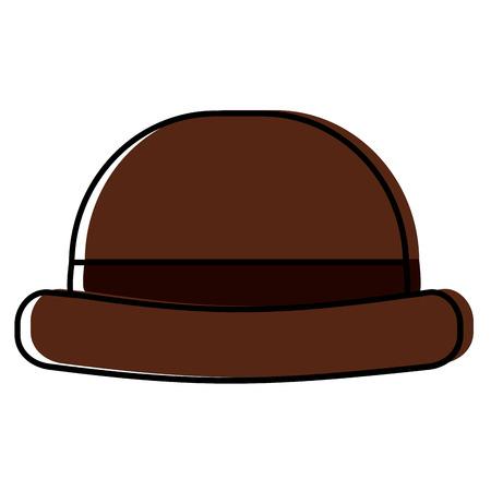 Vintage hipster hat men accessory illustration