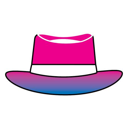 Classic hat men cloth fashion vector illustration degrade color image