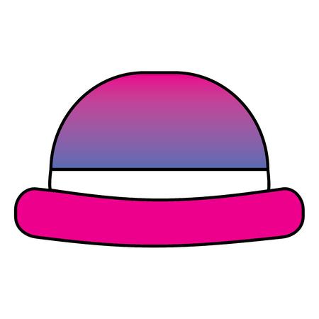 Vintage hipster hat men accessory vector illustration degrade color image