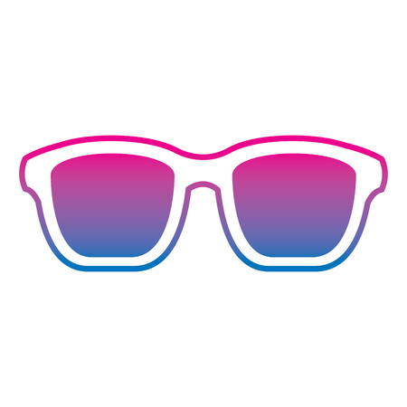 Hipster glasses fashion trendy aceessory vector illustration gradient color line image