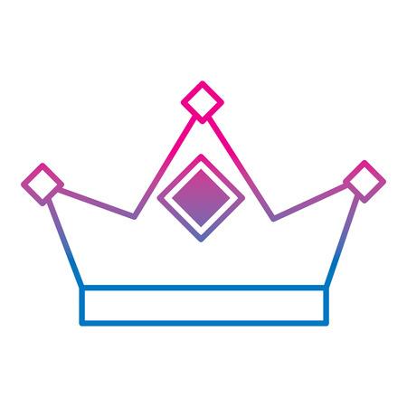 King crown royal authority classic vector illustration gradient color line image Ilustração