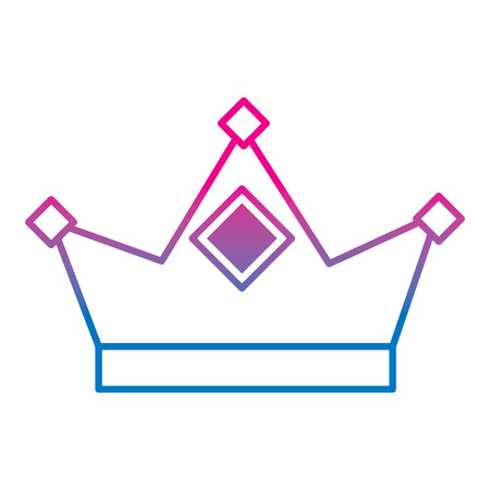 King crown royal authority classic vector illustration gradient color line image Illustration