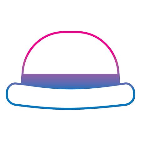 Vintage hipster hat for men accessory vector illustration gradient color line image