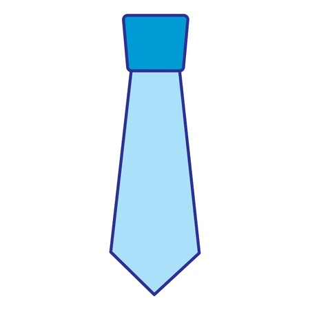 clothing necktie element accessory fashion design vector illustration blue image Ilustração