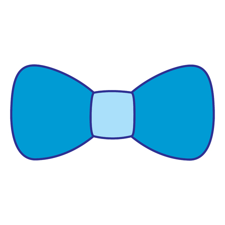 Hipster fashion bow tie elegance for men vector illustration blue image Ilustração
