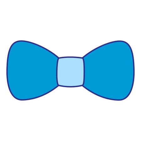Hipster fashion bow tie elegance for men vector illustration blue image Illustration