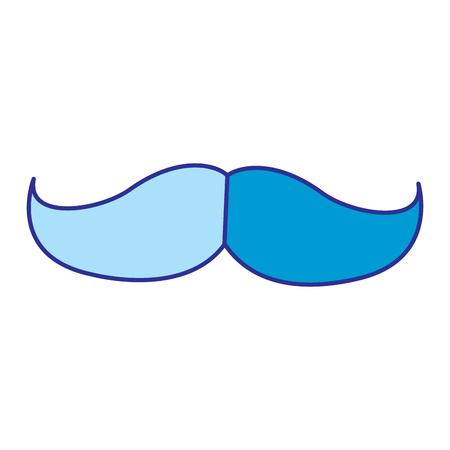 Mustache vintage trend hipster style vector illustration blue image