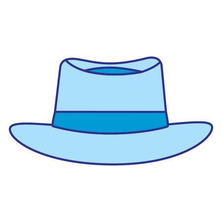 Classic hat men cloth fashion vector illustration blue image