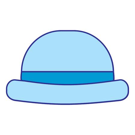 Vintage hipster hat men accessory vector illustration blue image Ilustração