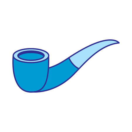tobacco pipe vintage accessory for men vector illustration blue image