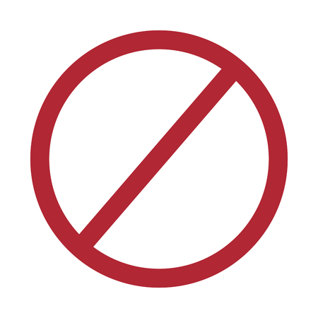prohibition no symbol red round stop warning sign template vector illustration
