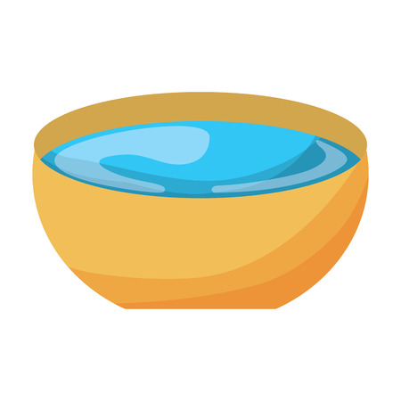 bowl of water vector illustration Иллюстрация
