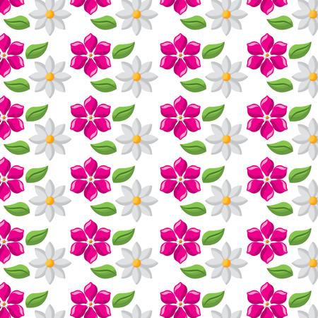 decorative floral jasmine and frangipani flower wallpaper vector illustration