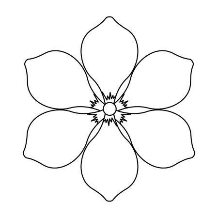 frangipani flower natural bloom decoration ornament vector illustration outline image 스톡 콘텐츠 - 96827872