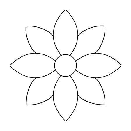 flower jasmine ornament decoration delicate vector illustration outline image 向量圖像