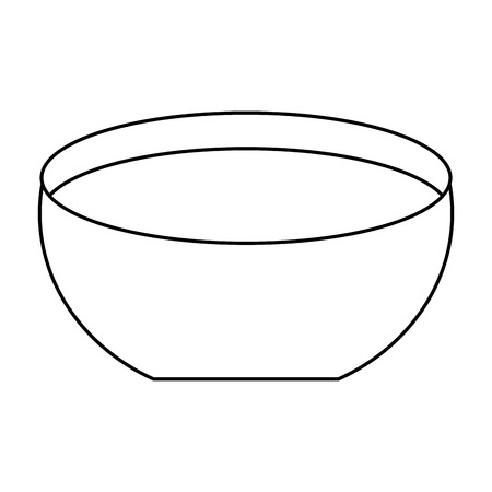 bowl water fresh liquid clean icon vector illustration outline image Ilustração