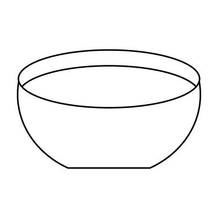 bowl water fresh liquid clean icon vector illustration outline image Illustration