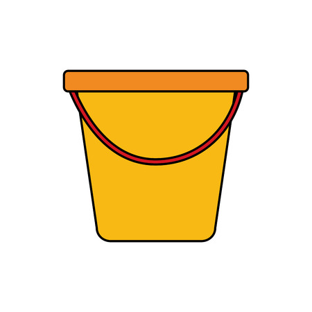 plastic bucket container handle tool vector illustration