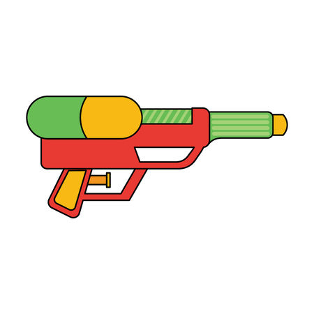 water gun shoot splash toy plastic vector illustration Illustration