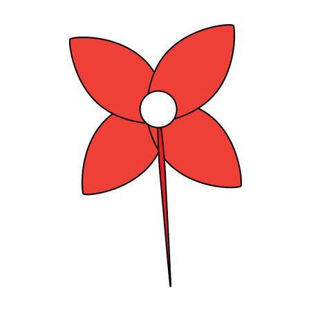 꽃 장식 벡터 일러스트 레이 션의 형태로 풍향 일러스트