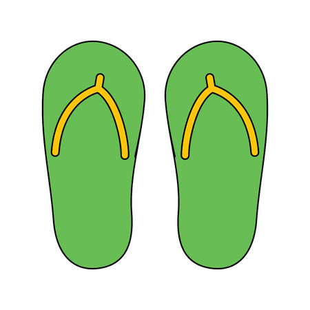 flip flop footwear rubber accessory vector illustration Ilustracja