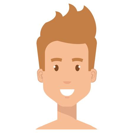 young man shirtless avatar character vector illustration design Stock Vector - 96894669