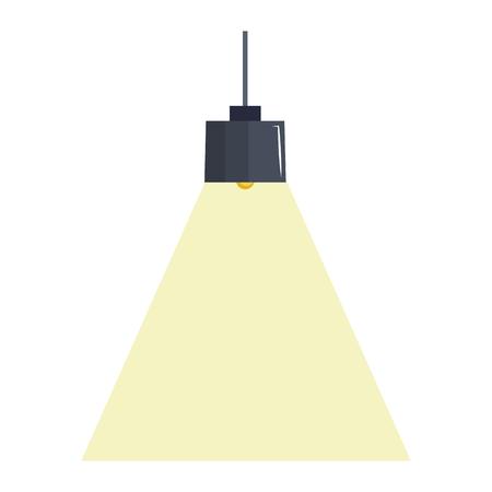 elegant office lamp hanging vector illustration design Ilustrace