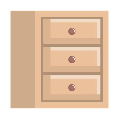 wooden office drawer icon vector illustration design Stock Illustratie