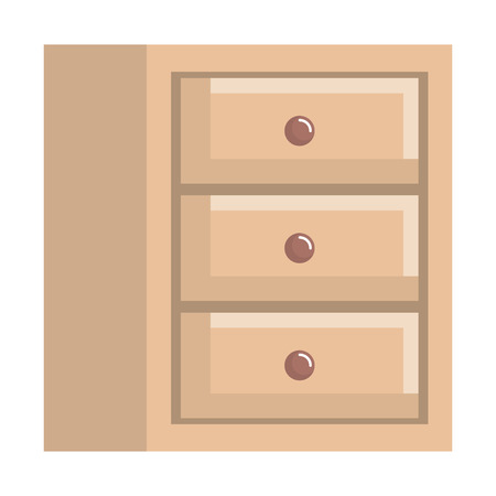 wooden office drawer icon vector illustration design Illustration