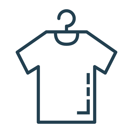 Shirt hanging in wire hook vector illustration design
