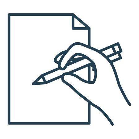 Pen writer isolated icon vector illustration design