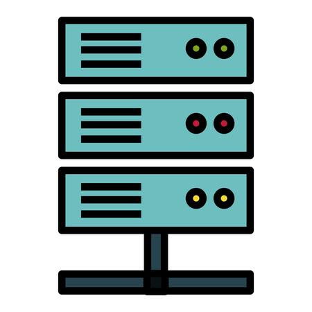 Data center server icon vector illustration design Illustration