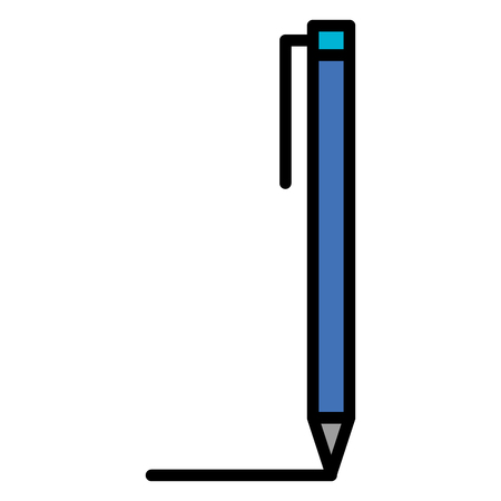 Pen writer isolated icon vector illustration design