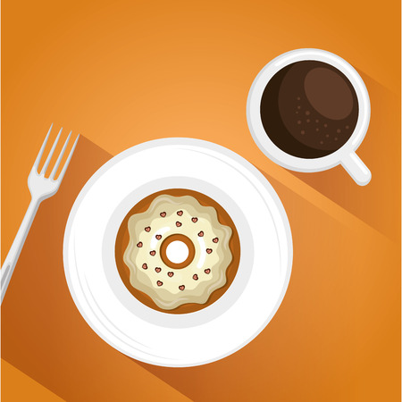 Coffee and donut illustration
