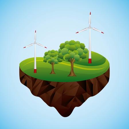 Energy turbines image illustration