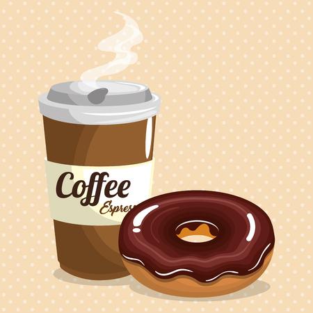 Coffee and donut image illustration Stockfoto - 96957049