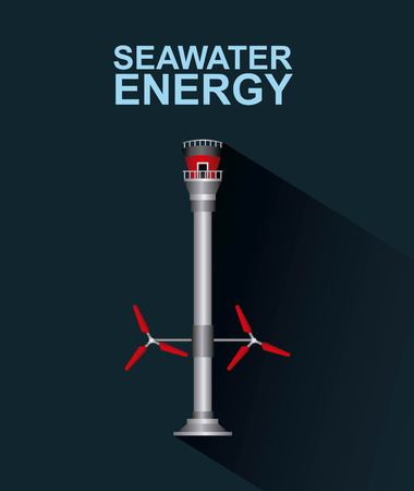 Seawater renewable energy illustration