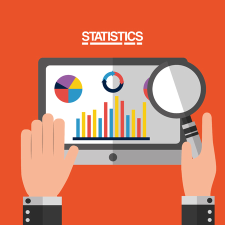 business adviser financial research statistics vector illustration