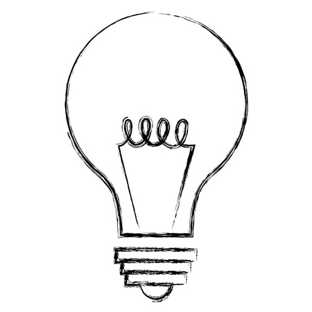 bulb light isolated icon vector illustration design  イラスト・ベクター素材