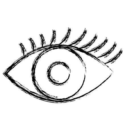 Ontwerp van de het oog het vectorillustratie geïsoleerde pictogram van de mens Stockfoto - 96901832