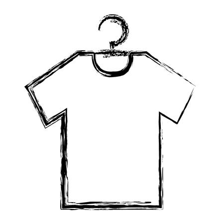 ワイヤーフックベクトルイラストデザインにぶら下がっているシャツ  イラスト・ベクター素材