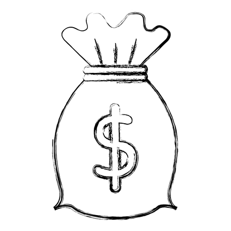 money bag isolated icon vector illustration design