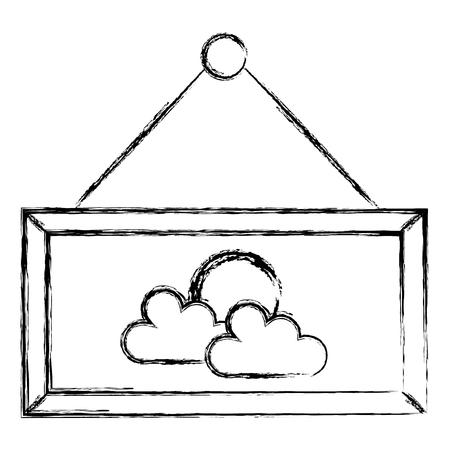 label hanging isolated icon vector illustration design  イラスト・ベクター素材