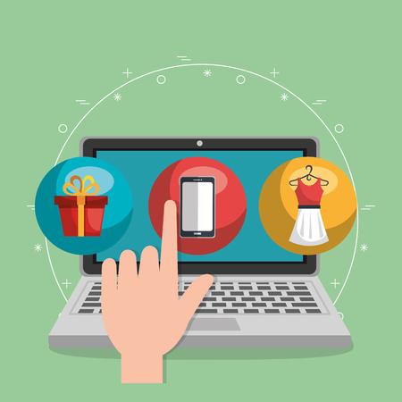 Electronic commerce set icons vector illustration design.