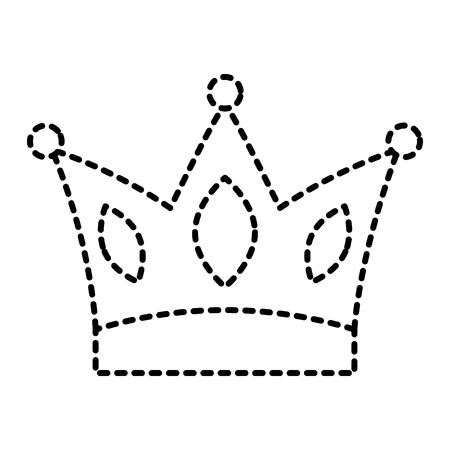 crown jewelry royal monarch vector illustration dotted line Illustration