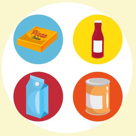 Commercial marketing set icons vector illustration design.