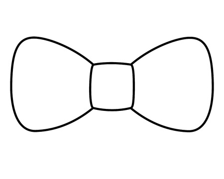 hipster  fashion bow tie elegance for men vector illustration outline image  イラスト・ベクター素材