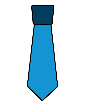 clothing necktie element accessory fashion design vector illustration Иллюстрация