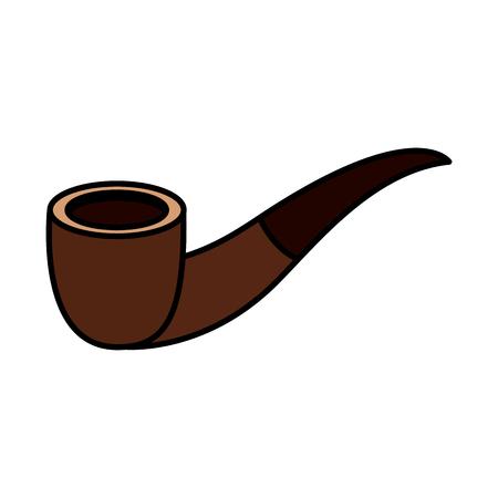 tobacco pipe vintage accessory for men vector illustration